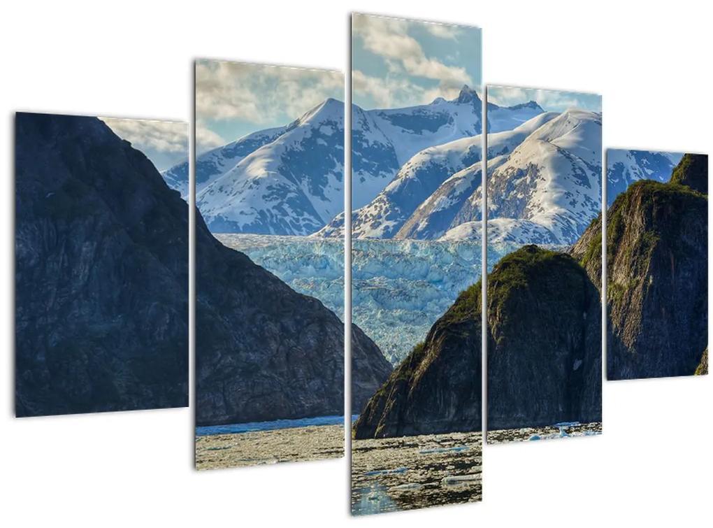 Tájkép hegyekkel (150x105 cm)