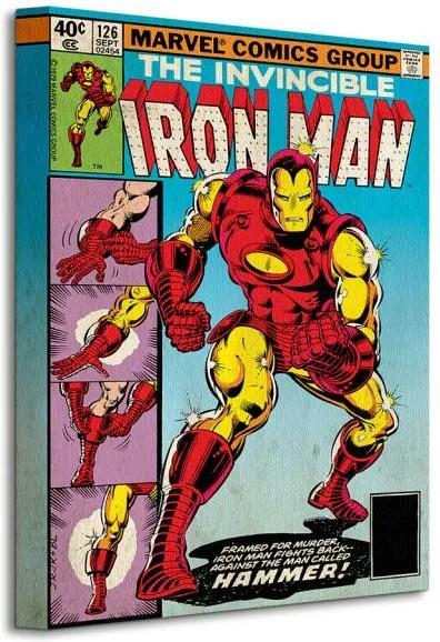 Vászonkép Marvel Iron Man (Hammer) 30x40cm WDC92201