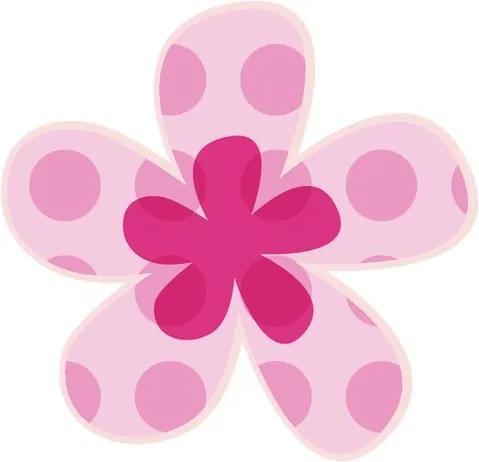 Falmatrica gyerekeknek Rózsaszín pöttyös virág 10x10cm NK4487A_1HP