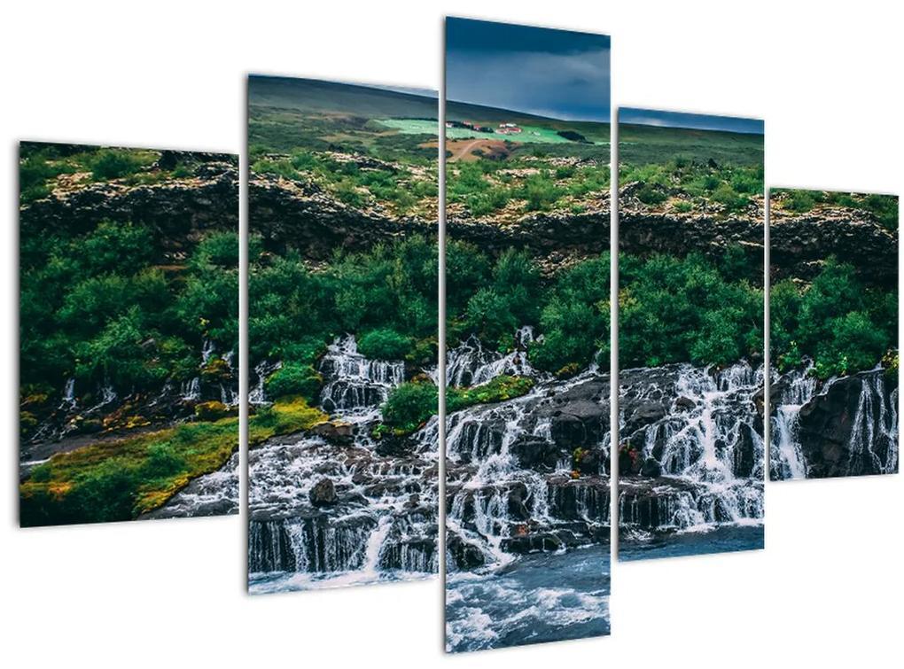 Vízesések képe a természetben (150x105 cm)