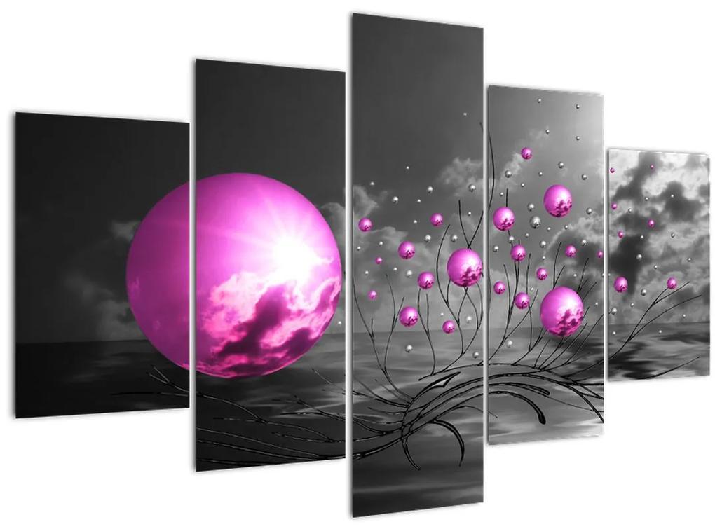 Rózsaszín gömbök képe (150x105 cm)
