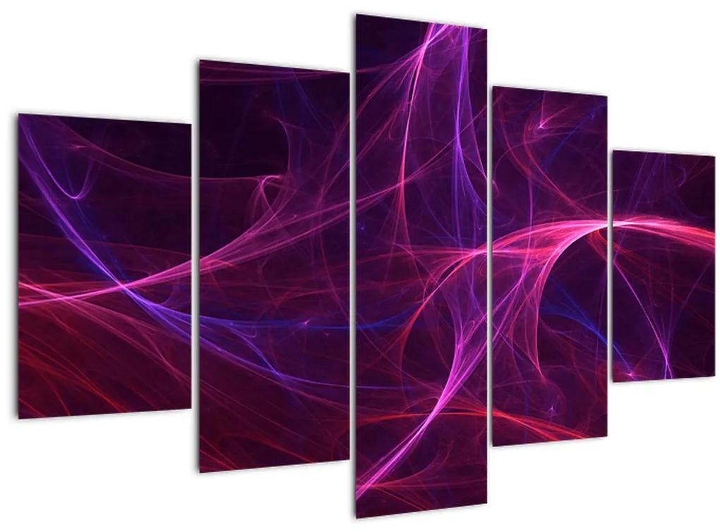 Absztrakt görbék képe (150x105 cm)