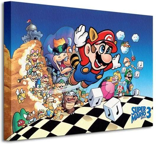 Vászonkép Nintendo Super Mário Bros 3 (Art) 40x30cm WDC92393