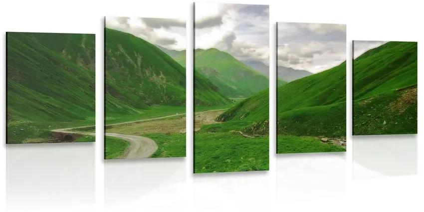 5 részes kép zöld ország