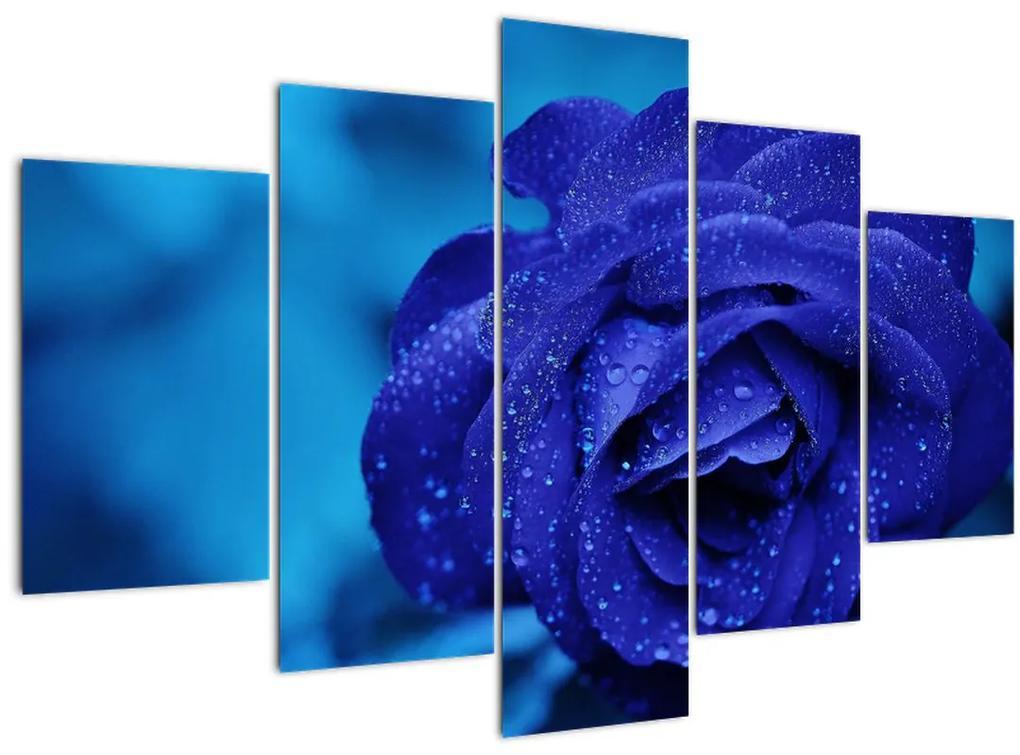 Kék rózsa képe (150x105 cm)
