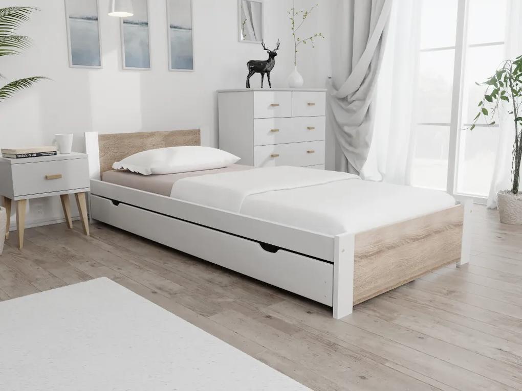 Maxi Drew IKAROS ágy 90x200 cm, fehér Matrac: matrac nélkül, Ágyrácsok: Ágyács nélkül