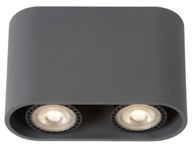 Lucide Lucide 09914/10/36 - LED spotlámpa BENTOO-LED 2xGU10/4,5W/230V szürke LC1046