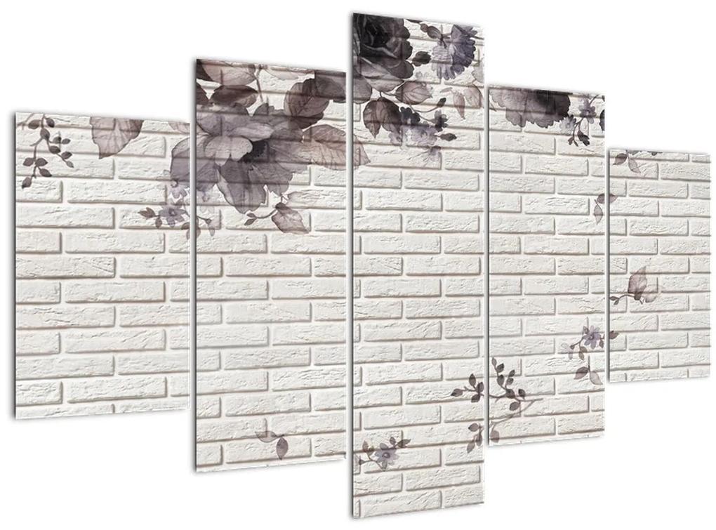 A fal egy képe és a csokor (150x105 cm)
