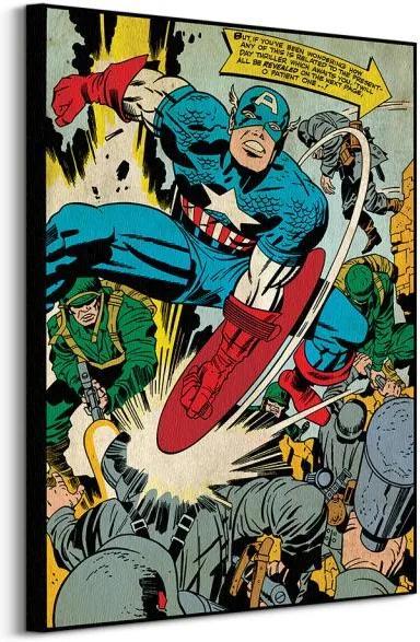 Vászonkép Marvel Captain America (Soldiers) 60x80cm WDC90939