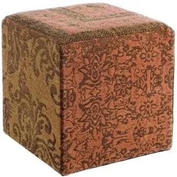 TWIST narancssárga patchwork puff 40x40