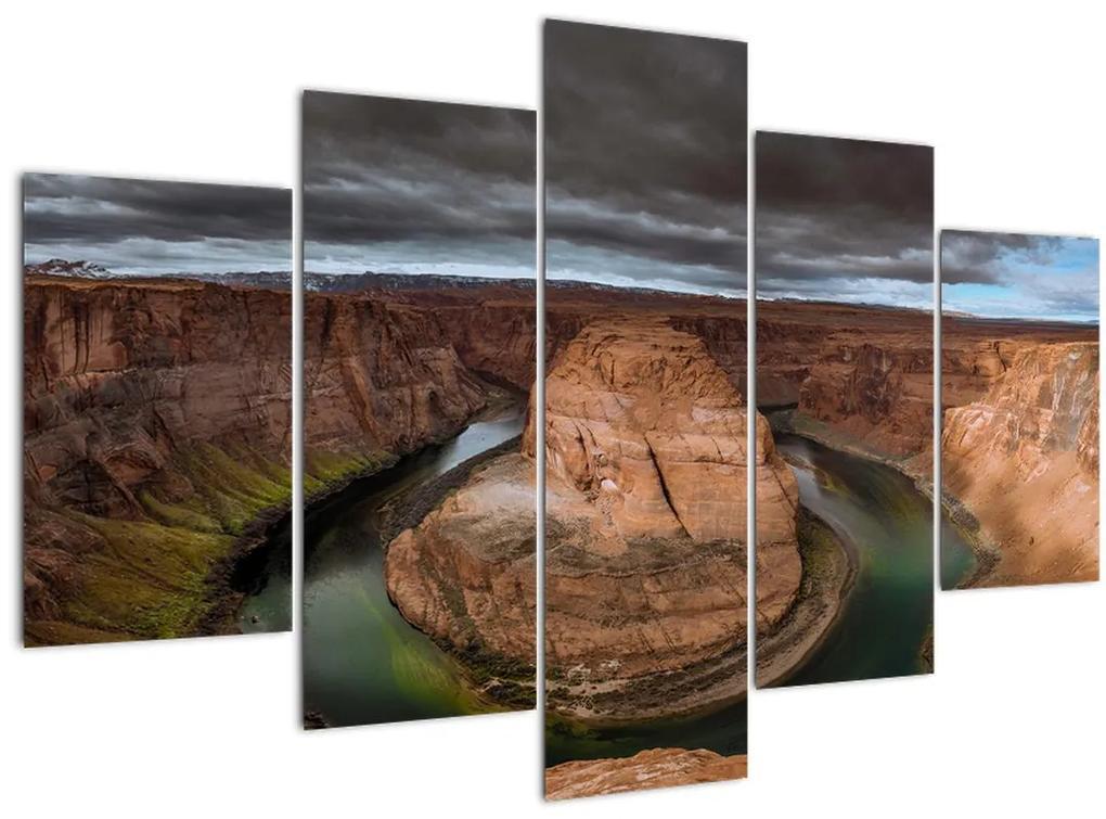 Tó a sziklában képe (150x105 cm)