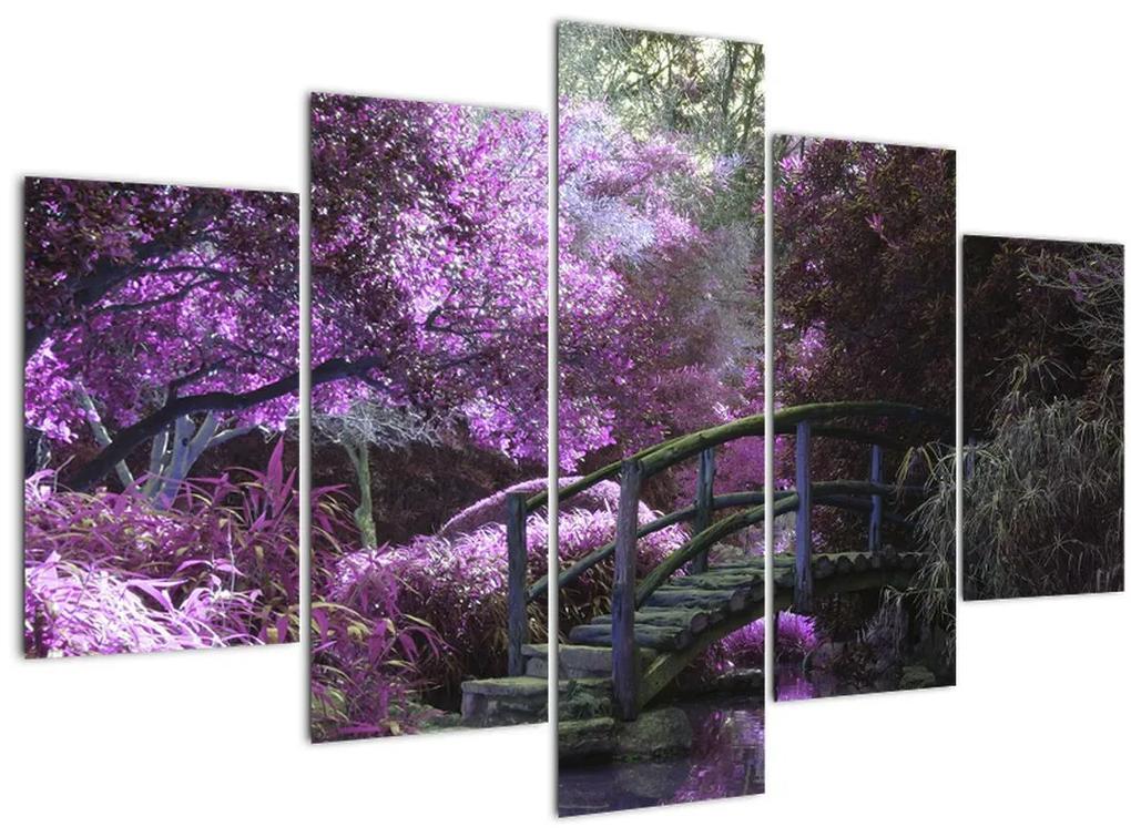 Kép - lila fák (150x105 cm)
