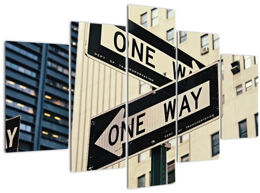 Kép - New York ONE WAY (150x105 cm)