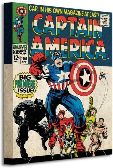 Vászonkép Marvel Captain America (Premier) 30x40cm WDC92202