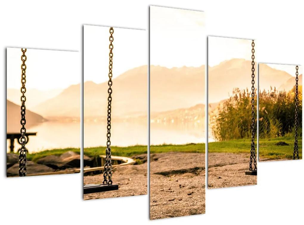 Kép egy hintákról a természetben (150x105 cm)