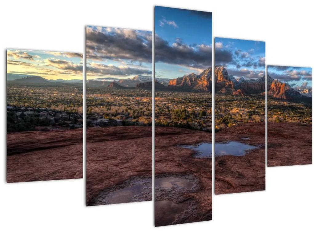 A hegyek képe (150x105 cm)