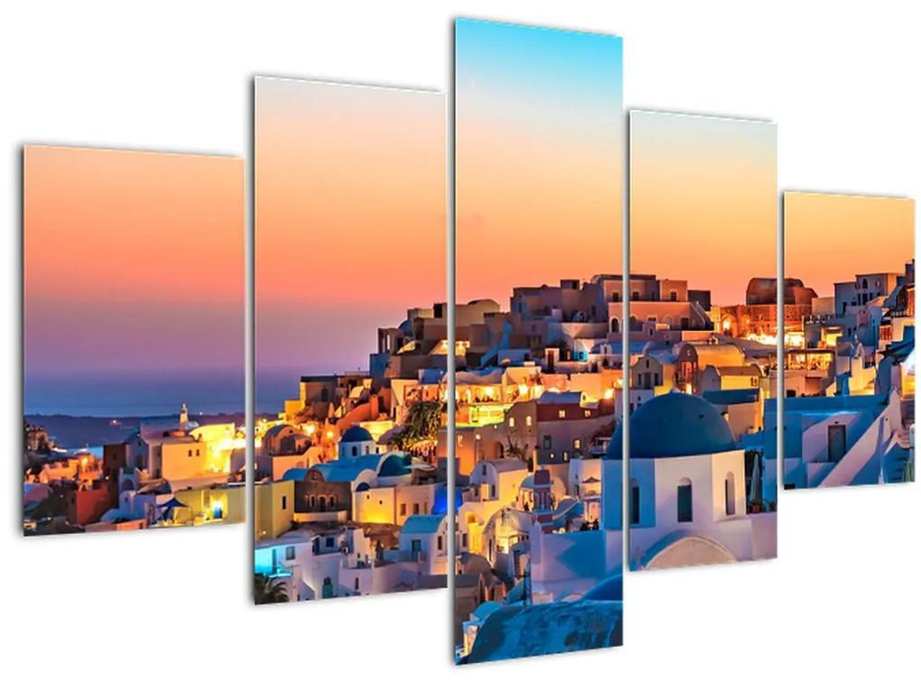 Kép - Santorini alkonyatkor (150x105 cm)
