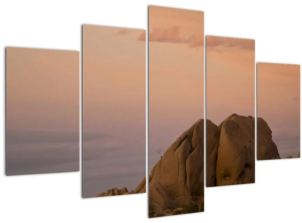 Naplemente a sziklákban (150x105 cm)