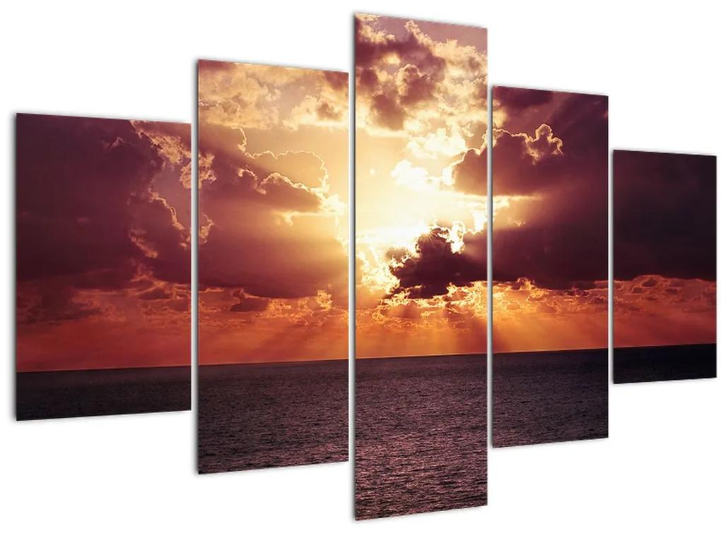 A nap képe a felhők mögött (150x105 cm)