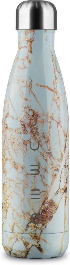 The Bottle Gold Marble Fehér 500 ml rozsdamentes acél hőtartó design kulacs