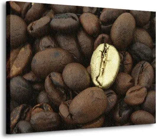 Vászonkép Arany kávészemek Kmit 120x90cm CD0172