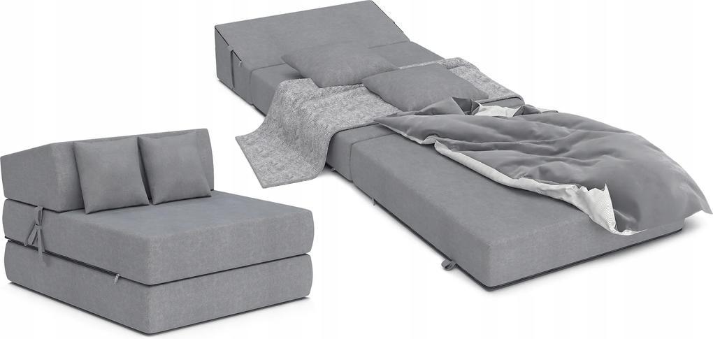 Matracesen Összehajtható fotelágy 200x70 Szürke