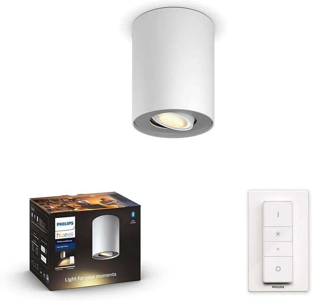 Philips Philips 56330/31/P6 - LED Szabályozható lámpa HUE PILLAR 1xGU10/5W/230V + távirányító P3755
