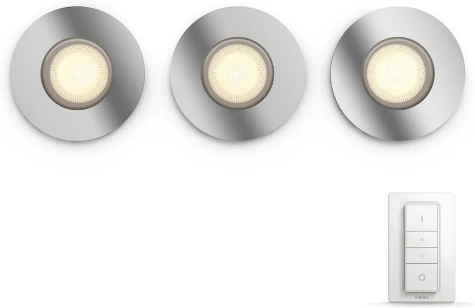 Philips Philips - KÉSZLET 3x LED Beépíthető lámpa HUE ADORE 3xGU10/5W/230V IP44 + DO P3135
