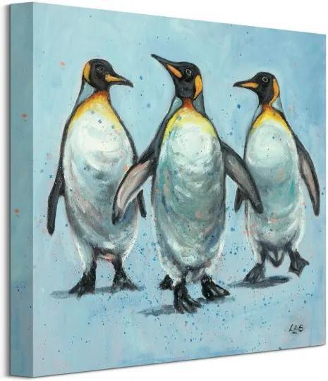 Vászonkép Három pingvin Brown Louise 40x40cm WDC101024