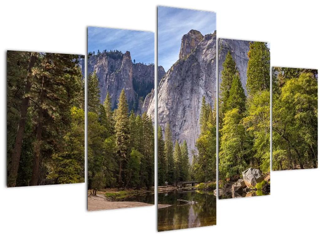 Kép - A Yosemite szikla alatt (150x105 cm)