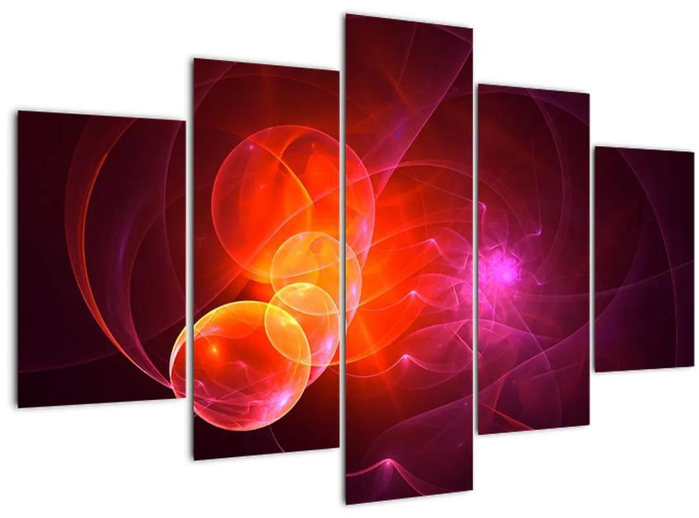Modern rózsaszín absztrakció képe (150x105 cm)