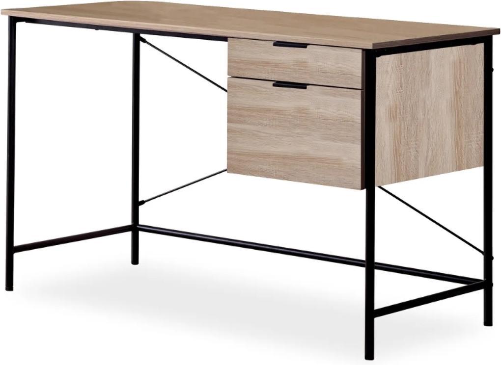 B-183 íróasztal tölgy fekete
