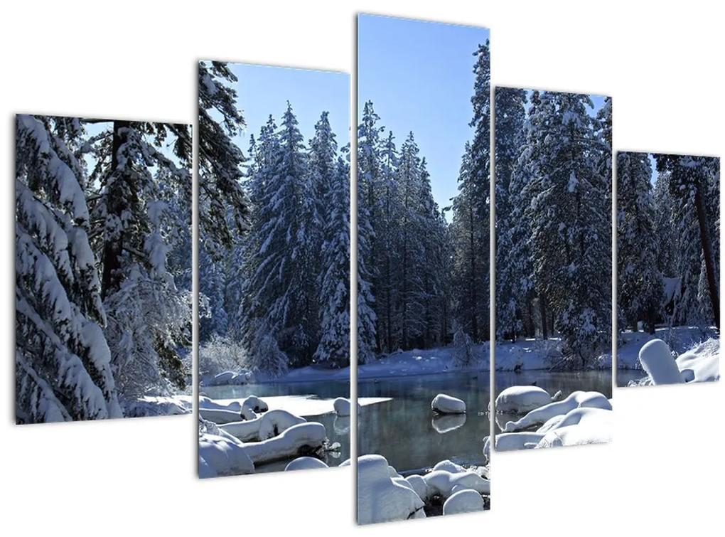 Havas erdő képe (150x105 cm)