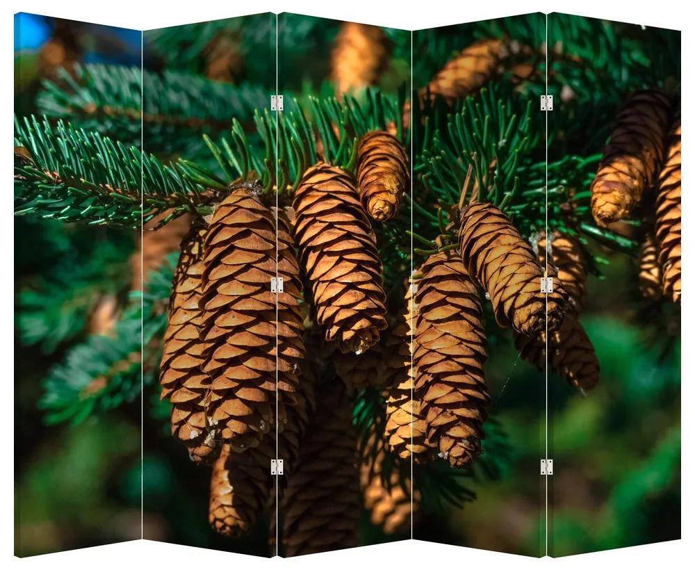 Paraván - Fenyőtobozok (225x180 cm)