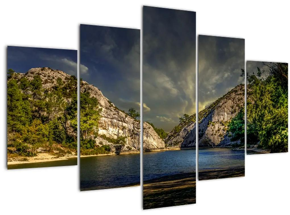 Tájkép tóval (150x105 cm)
