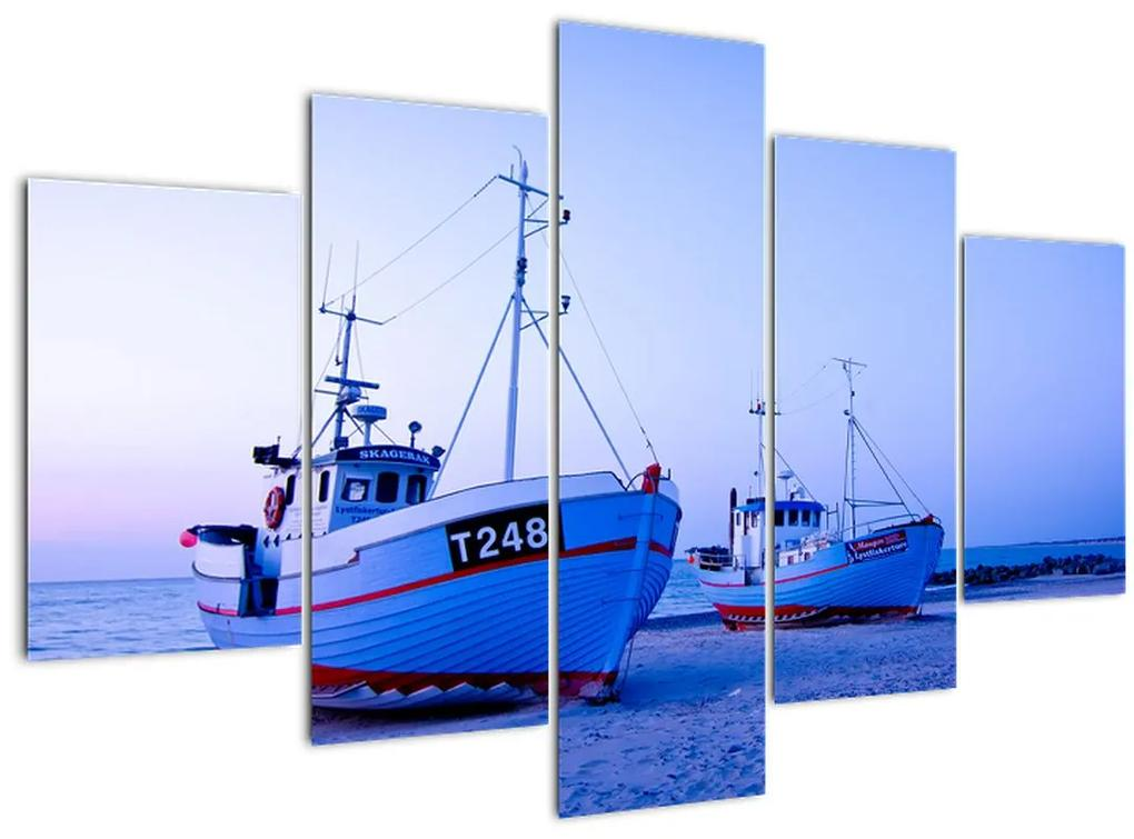 Kép - Partraszállás szürkületkor (150x105 cm)