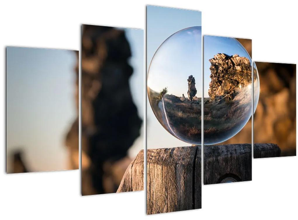 Nagyító és a táj képe (150x105 cm)