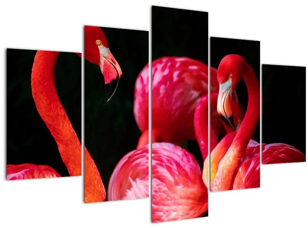 Vörös flamingók képe (150x105 cm)