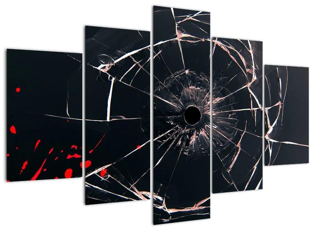 Absztrakt kép - törött üveg (150x105 cm)