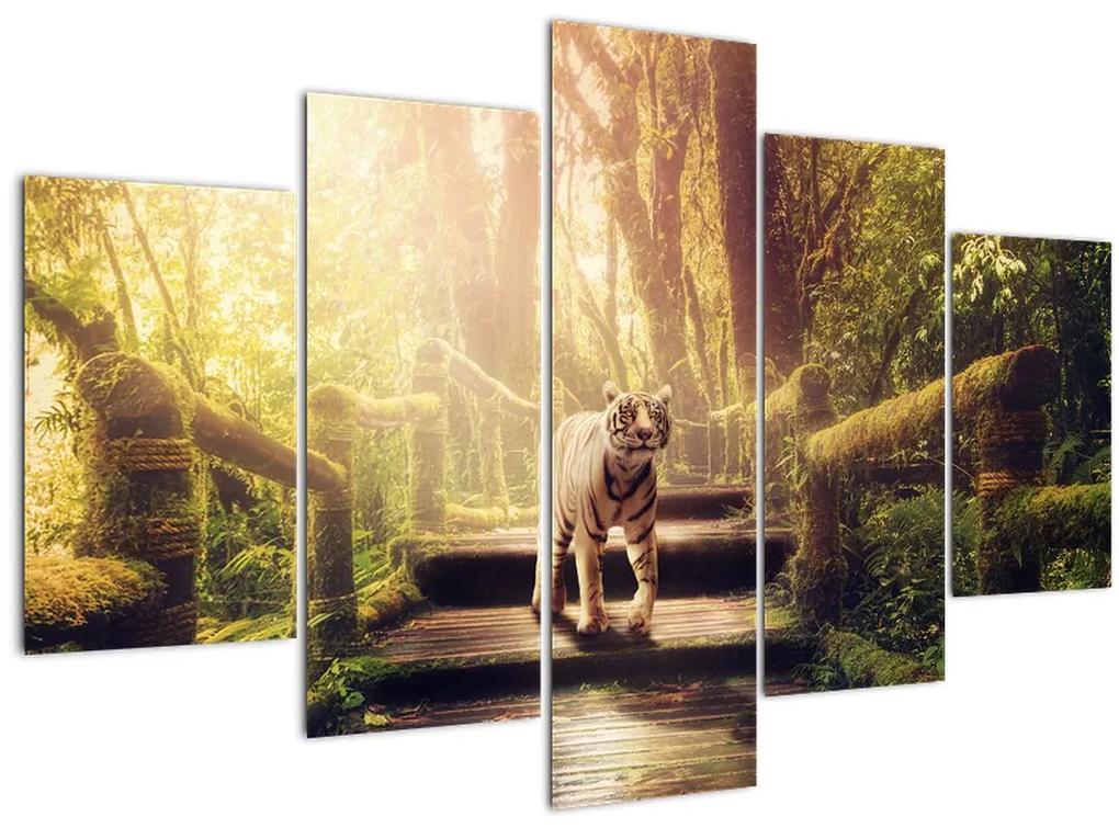 Tigris a dzsungelben képe (150x105 cm)