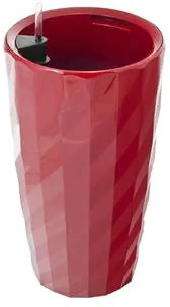 G21 Diamant önöntöző kaspó, piros, 57 cm - (6392531)