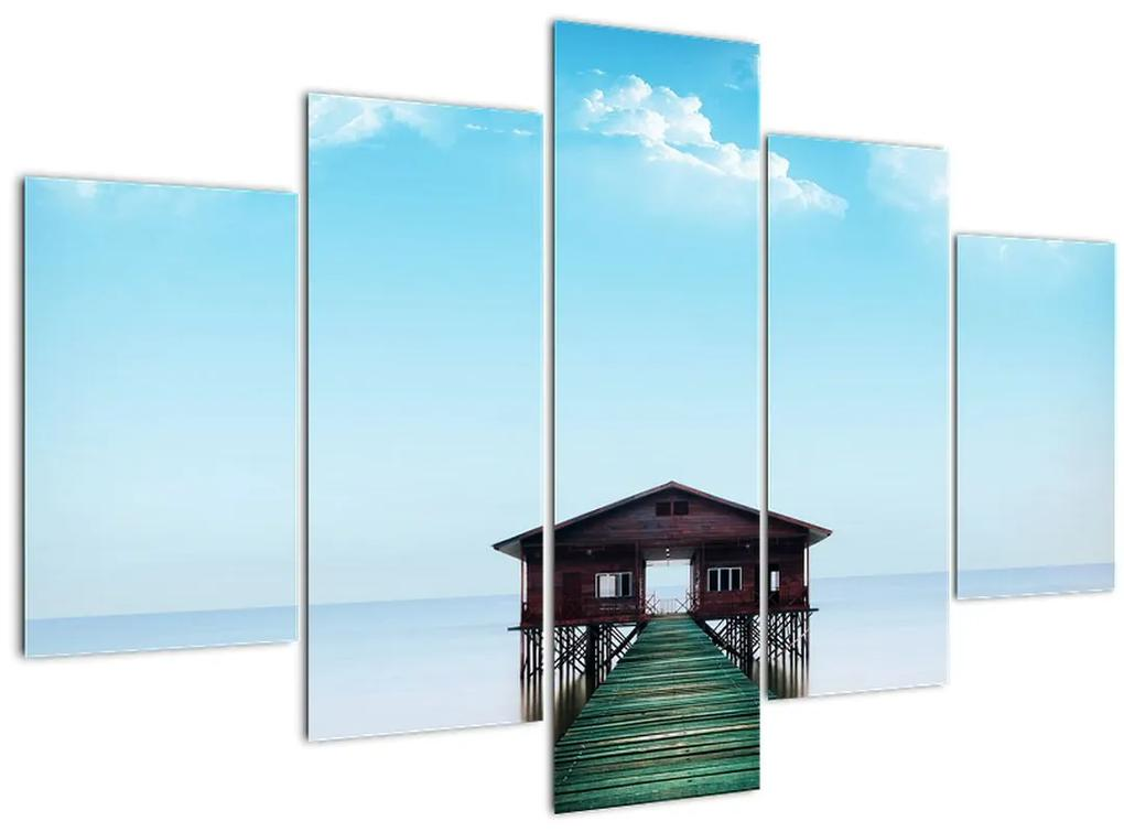 Kép a házról a tengeren (150x105 cm)