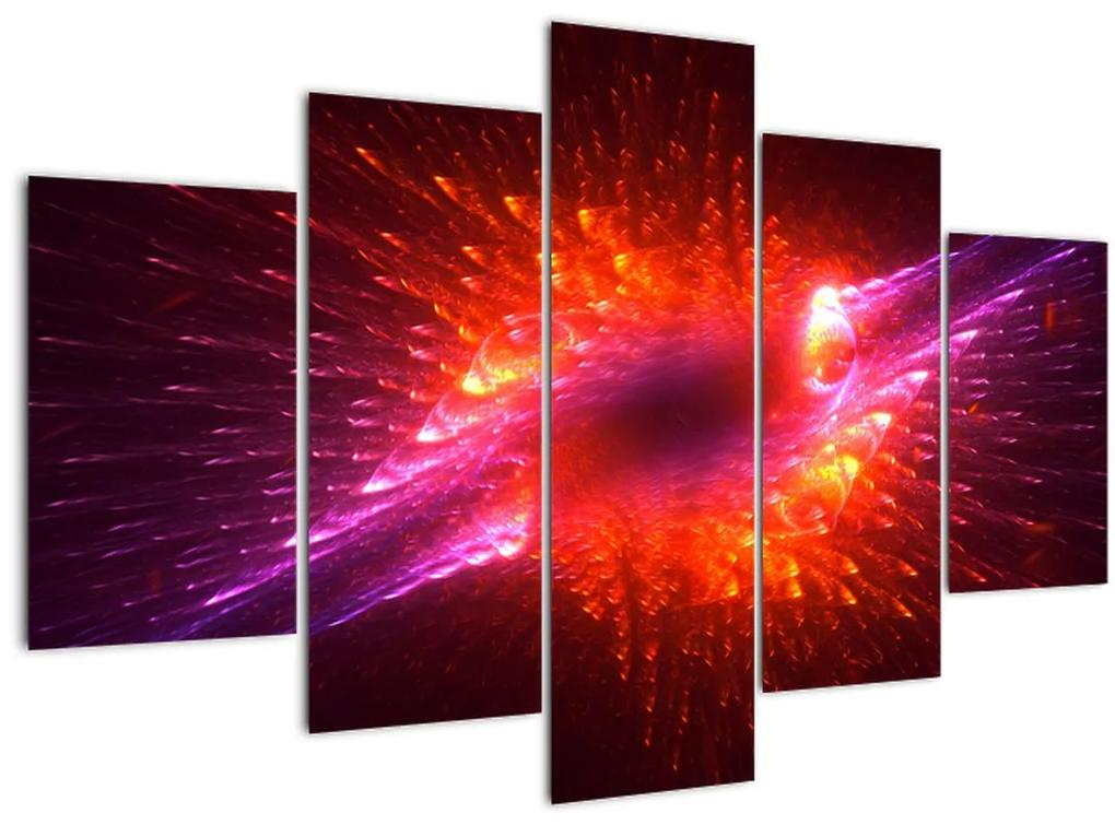 Modern tüskés absztrakció képe (150x105 cm)