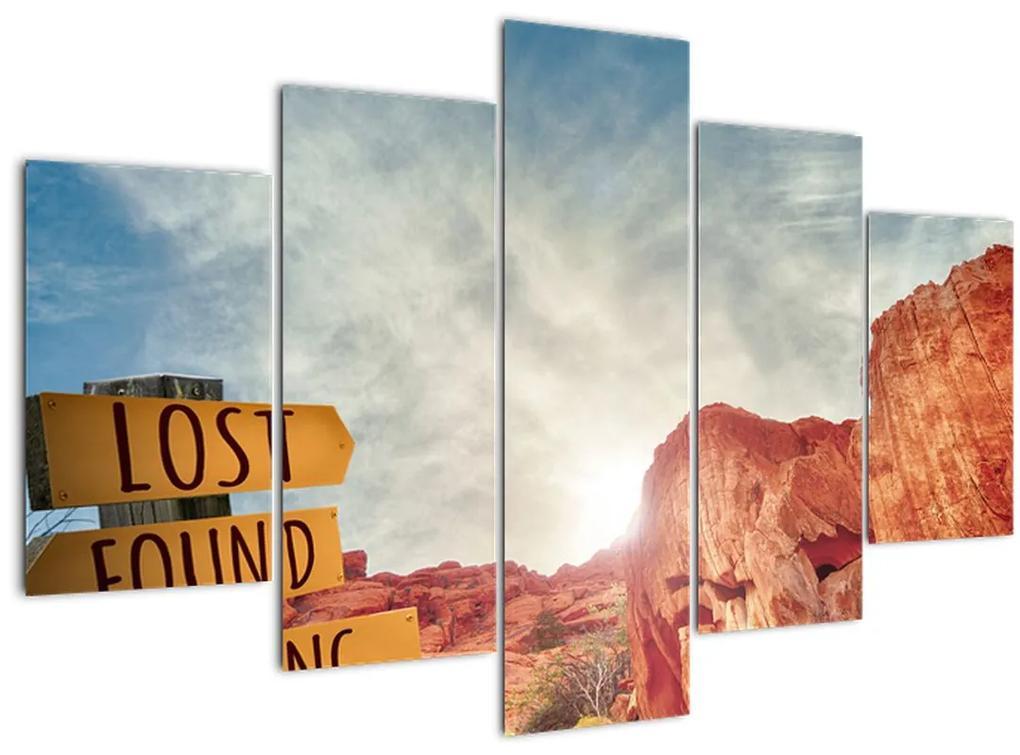 Mutatók felirattal képe (150x105 cm)