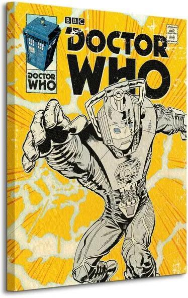 Vászonkép Doctor Who (Cyberman Comic) 60x80cm WDC90689