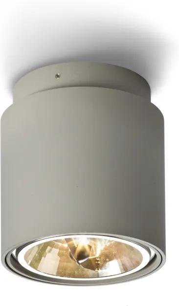 RENDL R10162 EX felületre szerelhető lámpatest, downlight ezüstszürke