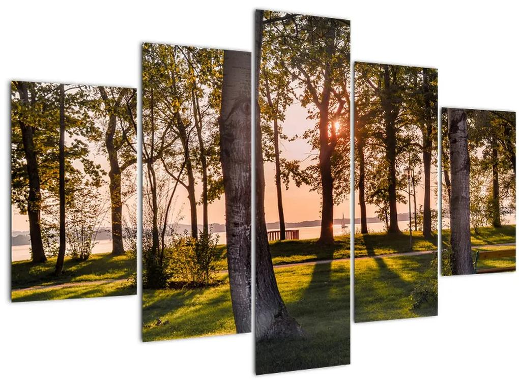 Fák a tó mellett képe (150x105 cm)