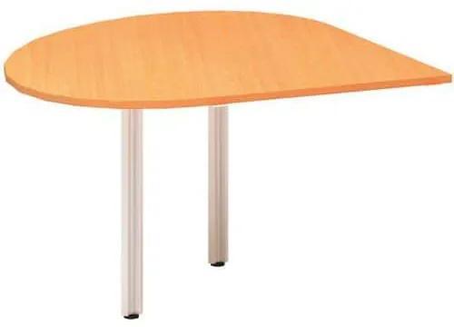 Alfa Office  Alfa 100 asztal toldóelem, 120 x 120 x 73,5 cm, csepp, jobbos kivitel, bükk Bavaria mintázat%