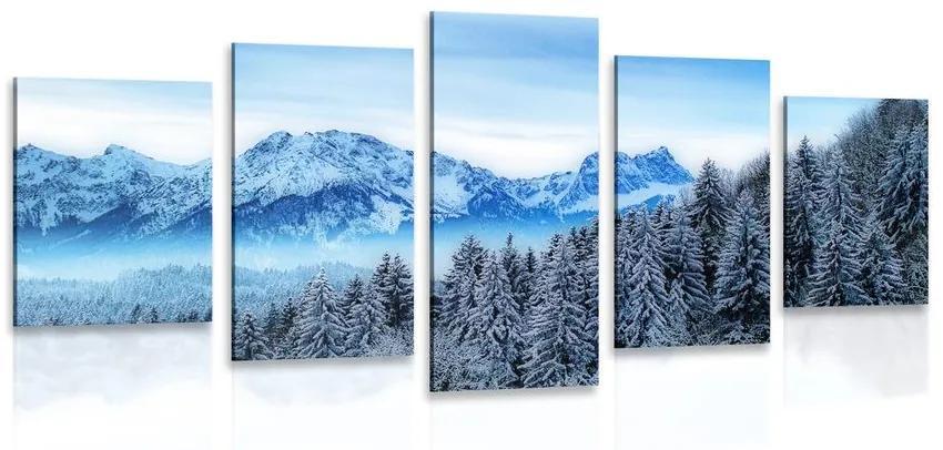 5 részes kép jeges hegyek
