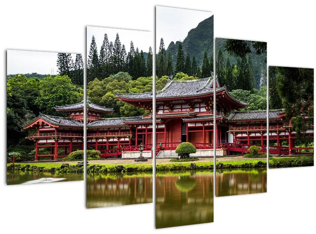 Kép - kínai építészet (150x105 cm)